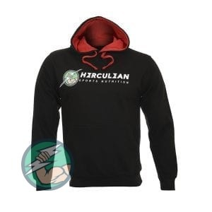 Herculean Apollo Signature Hoodie Black with Red Front