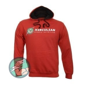 Herculean Apollo Signature Hoodie Red With Black Front